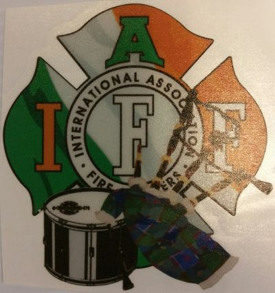 IAFF Pipes & Drums Decal