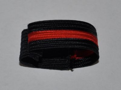 Black with Red Stripe Mourning Band-24