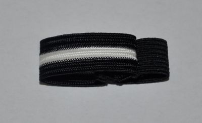 Black with White Stripe Mourning Band-24