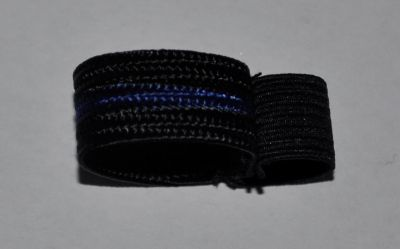 Black with Blue Stripe Mourning Band-24