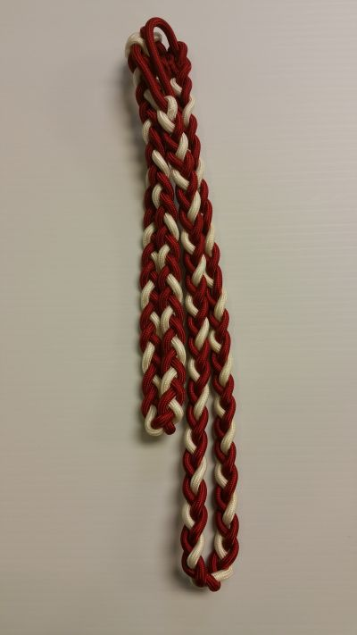 Red and White Double Shoulder Cord 11-14inch-76