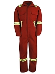 Flame Resistant Coverall ( size L ) Red