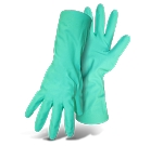 Green Rubber Work Gloves, UNLINED, Diamond Grip