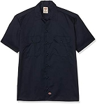 Dickies Short Sleeve Work Shirt, Dark Navy ( Large )