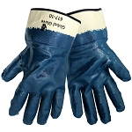 Global Glove 607R-10 Rough Finish Nitrile, 2 Piece Jersey Liner Glove w/Safety Cuff
