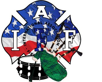 IAFF USA Flag Pipes & Drums Decal