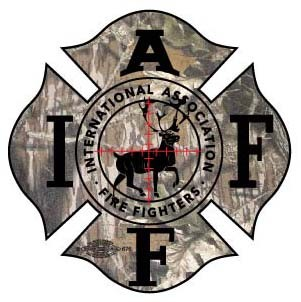 IAFF Deer Camo Decal