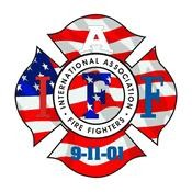 IAFF USA Flag Decal