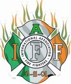 IAFF Irish Flamed Decal
