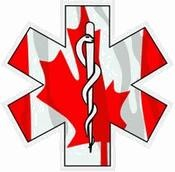 Canada EMS Star of Life Decal