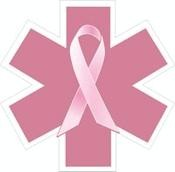 Breast Cancer Star of Life Decal