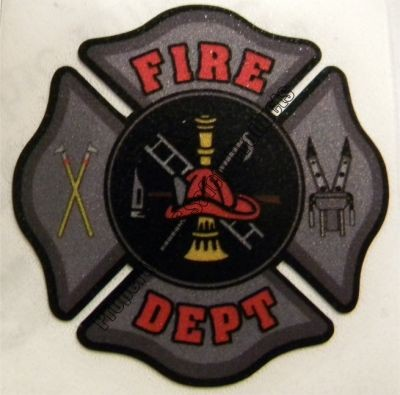 Grey Fire Department Maltese Cross Decal