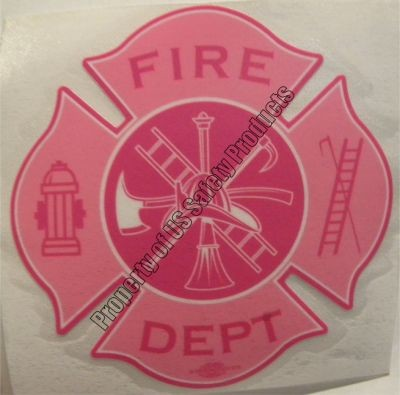 Hot Pink Fire Department Decal