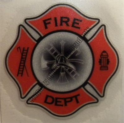 Light Orange Fire Department Maltese Cross Decal