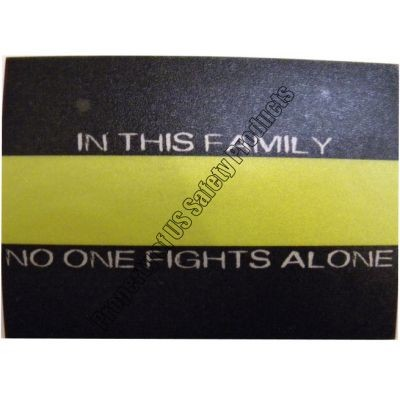 Thin Gold Line - Family No One Fights Alone Decal