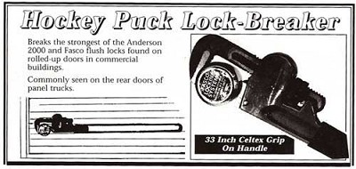 Hockey Puck Lock Breaker